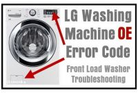 Lg Tromm Washer Replacement Parts Lg Front Load Washing Machine Error Code Oe How to Clear